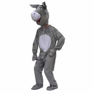 Pluche carnavalscarnavalskleding ezel