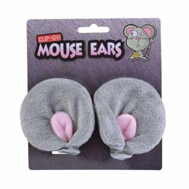 Pluche haarclips muizenoren