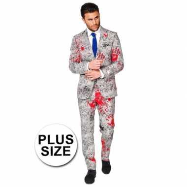 Plus size business suit bloedhanden print carnavalskleding Valkenswaa