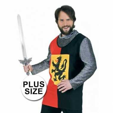 Plus size ridder overhemd carnavalskleding Valkenswaard