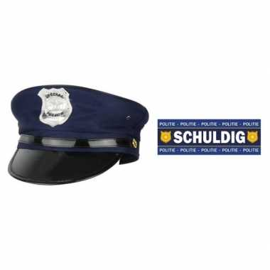 Politie accessoires set volwassenen carnavalskleding valkenswaard