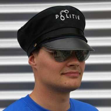 Politie accessoires verkleedset pet bril carnavalskleding valkenswaar