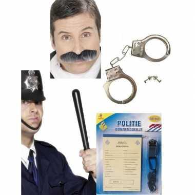 Politie accessoires verkleedset volwassenen carnavalskleding valkensw