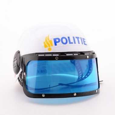 Politie helm nederlands logo carnavalskleding valkenswaard