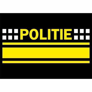 Politie logo sticker . carnavalskleding valkenswaard