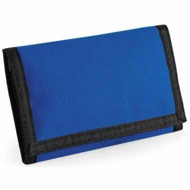 Portemonnee/portefeuille blauw carnavalskleding valkenswaard