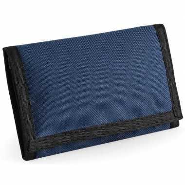 Portemonnee/portefeuille navy blauw carnavalskleding valkenswaard