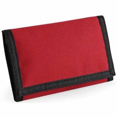 Portemonnee/portefeuille rood carnavalskleding valkenswaard