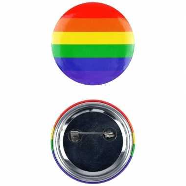 Pride tas/jas pin/broche/button carnavalskleding valkenswaard