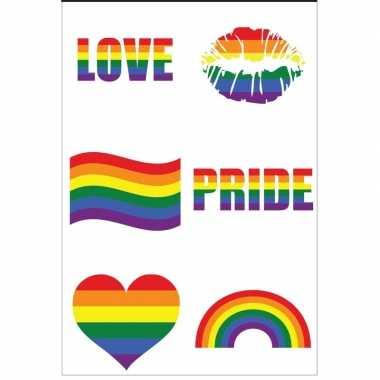 Pride tattoos tatoeages plakkers stuks carnavalskleding valkenswaard