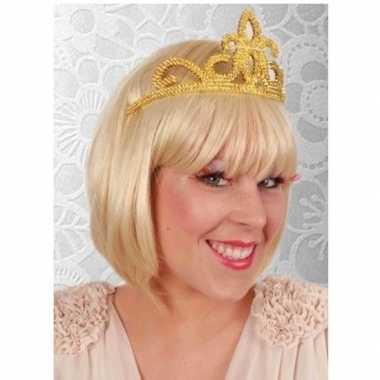 Prinses tiara goud dames carnavalskleding valkenswaard