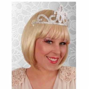 Prinses tiara zilver dames carnavalskleding valkenswaard