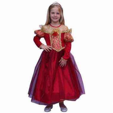 Prinsessen jurk gouden details carnavalskleding Valkenswaard