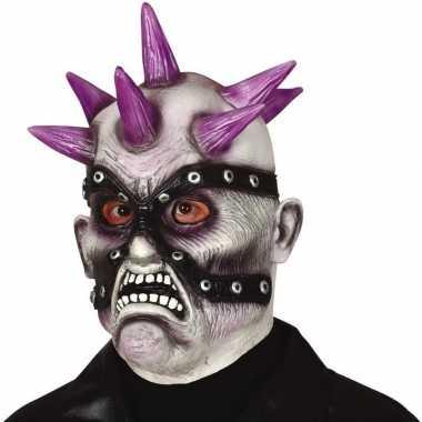 Punk zombie horror masker latex carnavalskleding valkenswaard