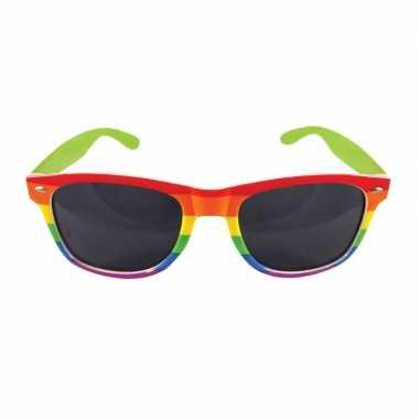 Regenboog feest bril volwassenen carnavalskleding valkenswaard