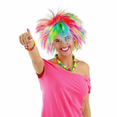 Regenbook punk damespruik carnavalskleding valkenswaard