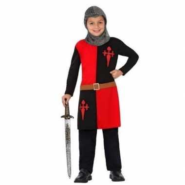 Ridder carnavalskleding/verkleed carnavalskleding rood jongens valken