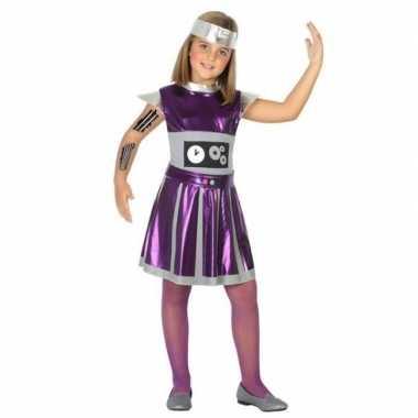 Robot verkleed jurk/jurkje meisjes carnavalskleding valkenswaard