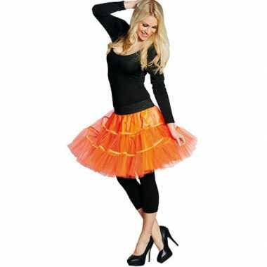 Rock roll rok neon oranje carnavalskleding valkenswaard