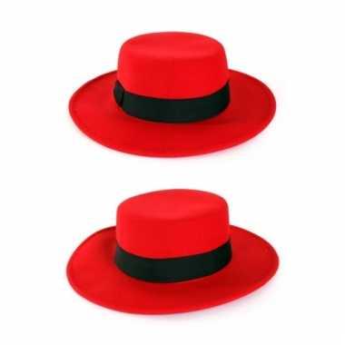 Rode hoed brede rand