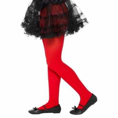 Rode legging kinderen jaar carnavalskleding valkenswaard
