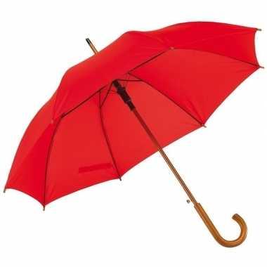 Rode paraplu houten handvat carnavalskleding valkenswaard