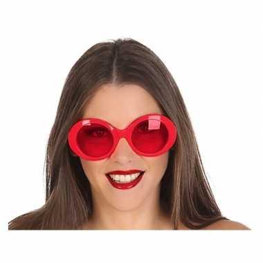 Rode ronde verkleed zonnebril carnavalskleding valkenswaard