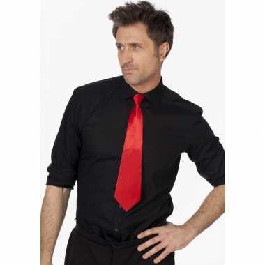 Rode stropdas verkleedaccessoire dames/heren carnavalskleding valkens