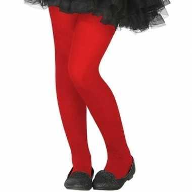 Rode verkleed panty kinderen carnavalskleding valkenswaard