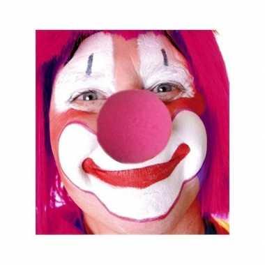 Ronde foam neuzen roze carnavalskleding valkenswaard