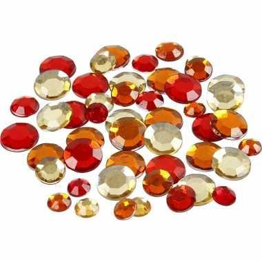 Ronde glinster steentjes assorti rood carnavalskleding valkenswaard