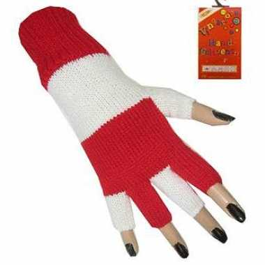 Rood wit vingerloze handschoenen