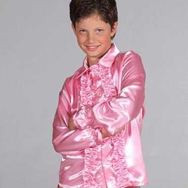 Roze disco blouse kinderen carnavalskleding valkenswaard