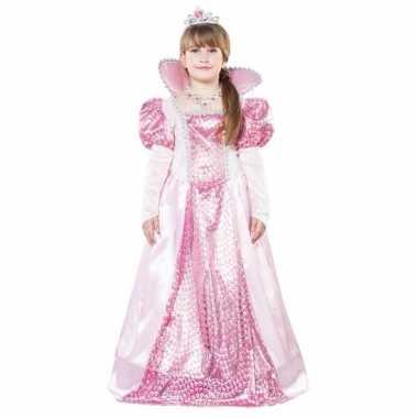 Roze koningin carnavalskleding meisjes