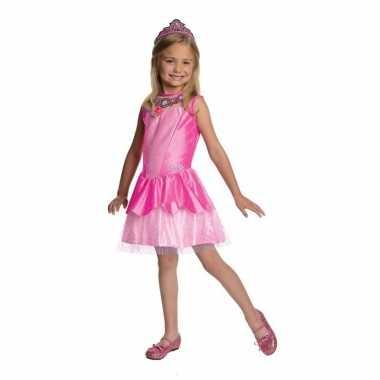 Roze prinsesen jurkje meisjes carnavalskleding valkenswaard