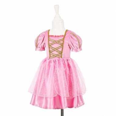 Roze prinsessen jurkje kant meisjes carnavalskleding valkenswaard