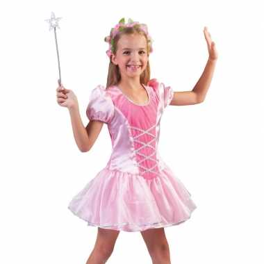 Roze prinsessen verkleed jurkje meisjes carnavalskleding valkenswaard