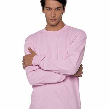 Roze t shirt lange mouwen gildan carnavalskleding valkenswaard