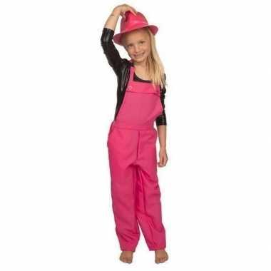 Roze tuinbroek/carnavalskledingl kinderen valkenswaard