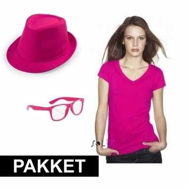 Roze verkleed set dames carnavalskleding valkenswaard