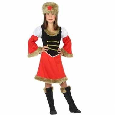 Russische kozakken verkleed jurk meisjes carnavalskleding valkenswaar