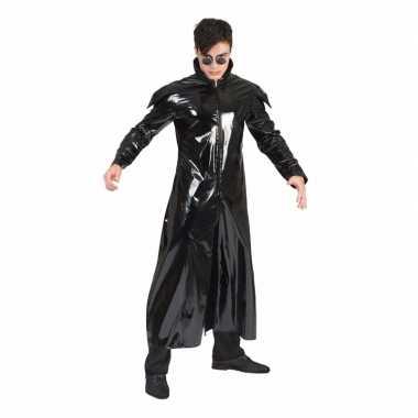 S carnavalskleding new wave/gothic lak jas volwassenen valkenswaard