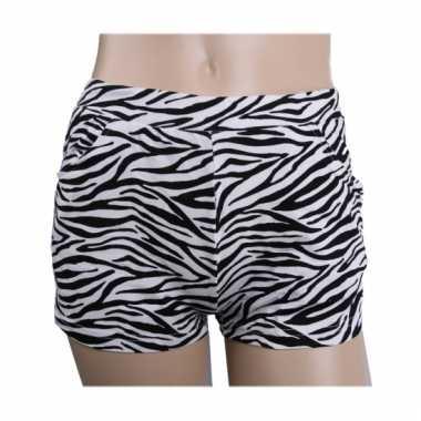 S style high waist hotpants zebra print