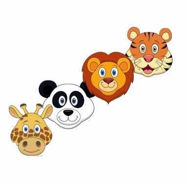Safari dieren maskertjes kinderen carnavalskleding valkenswaard
