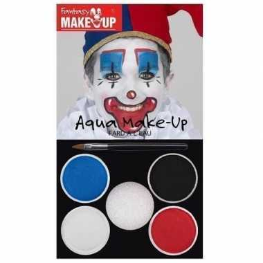 Schmink set horror clown kleuren carnavalskleding valkenswaard