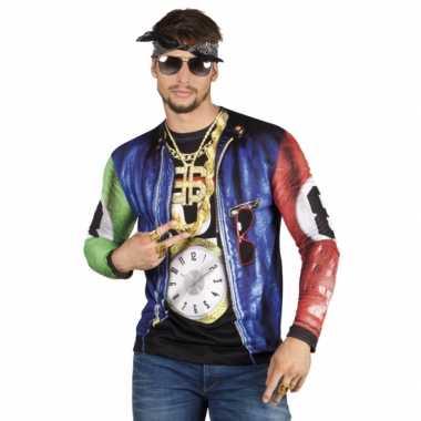 Shirt rapper print carnavalskleding Valkenswaard