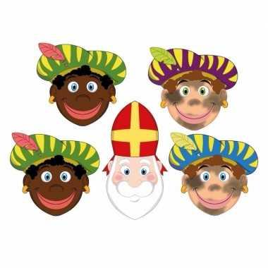 Sinterklaas zwarte pieten + sinterklaas maskers setje carnavalskledin
