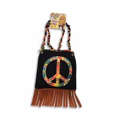 Sixties tas peace teken carnavalskleding Valkenswaard