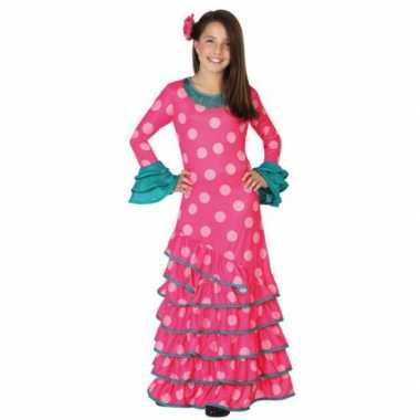 Spaans kinder carnavalskleding roze/blauw Valkenswaard