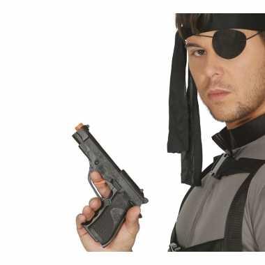 Speelgoed politie wapen zwart carnavalskleding valkenswaard